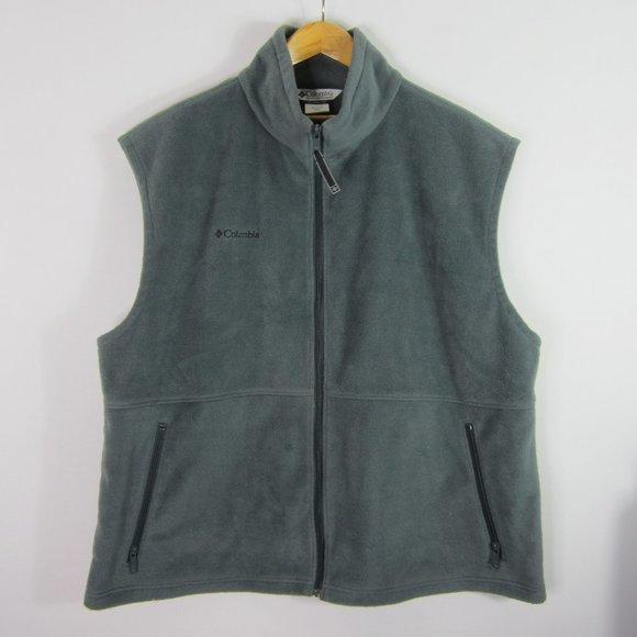 Columbia XXL Gray Full Zip Fleece Vest 2XL